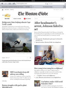 Boston Globe Ipad